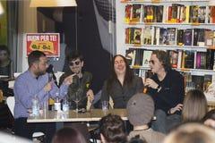 Sourire riant de groupe de rock d'Afterhours Image libre de droits