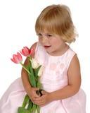 Sourire rose de robe images libres de droits