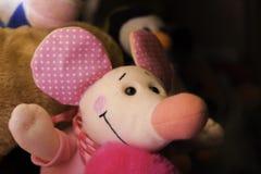 sourire rose de souris de jouet Photos libres de droits