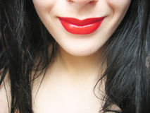 Sourire rouge Photos libres de droits