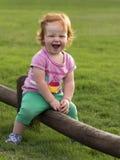 Sourire rouge de cheveux de fille Photo libre de droits