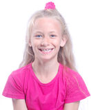 Sourire sain d'enfant de dents Photographie stock