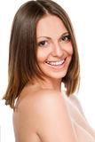 sourire sain et blanc photo stock