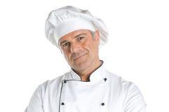Sourire satisfaisant de chef Photo stock