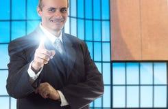 Sourire supérieur heureux d'homme d'affaires Photo stock