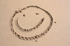 Sourire sur la plage Photos libres de droits