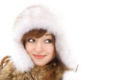 sourire vert observé de fille Images stock