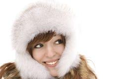 sourire vert observé de fille Image stock