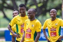Sourires d'équipe de Bafana Bafana Photos stock
