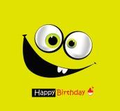Sourires de joyeux anniversaire illustration libre de droits