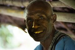 Sourires de la Papouasie-Nouvelle-Guinée Photo stock
