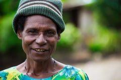 Sourires de la Papouasie-Nouvelle-Guinée Photos stock