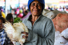 Sourires de la Papouasie-Nouvelle-Guinée Photos libres de droits