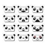 Sourires de panda Images libres de droits