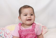 Sourires de petite fille Images libres de droits