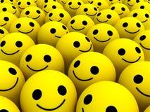 Sourires heureux Photos libres de droits