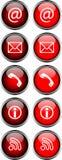 Souris-au-dessus des boutons Photo libre de droits