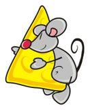 Souris avec du fromage Image stock