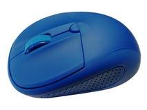 Souris bleue d'ordinateur sur le fond blanc photo libre de droits