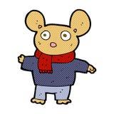 souris comique de bande dessinée dans des vêtements Photo stock