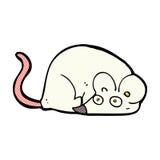 souris comique de blanc de bande dessinée Photographie stock