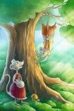 Souris dans l'amour dans la forêt Images stock