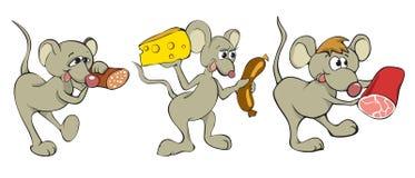Souris de dessin animé d'amusement Photos libres de droits
