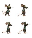 Souris de dessin animé - pack2 Images libres de droits