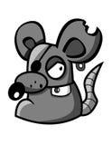 Souris de gris de dessin animé Photos stock