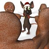 Souris de Noël dansant 2 illustration de vecteur