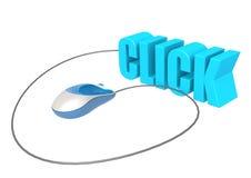 Souris et clic d'ordinateur Images libres de droits