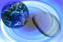 Souris et globe d'ordinateur Illustration de Vecteur