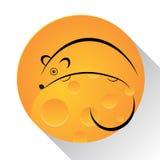 Souris, illustration de fromage illustration libre de droits