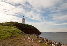 Souris-Leuchtturm, Prinz Edward Island, Kanada lizenzfreies stockbild