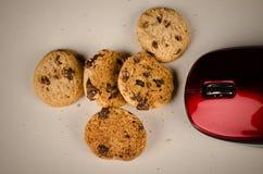 Souris mangeant des biscuits Photographie stock libre de droits