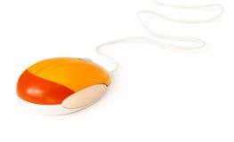 Souris orange d'ordinateur Photos libres de droits