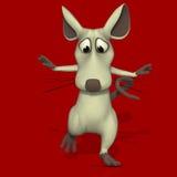 Souris ou rat mignonne de dessin animé Photographie stock libre de droits
