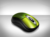souris sans fil verte Photos stock