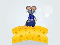 Souris sur le fromage Images stock