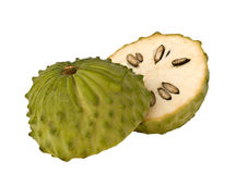 Soursop. Isolated on white background Royalty Free Stock Photos