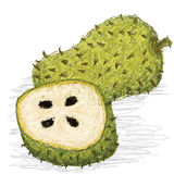 Soursop fruit Royalty Free Stock Image