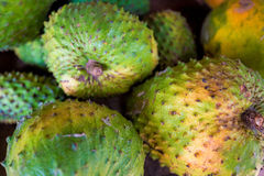 Soursop fruit at asian market Stock Photos