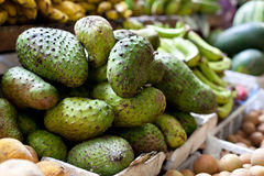 Soursop fruit on asian market, Philippines Royalty Free Stock Photography
