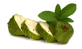 Soursop fruit and cuts Stock Images