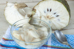 Soursop fruit dessert Royalty Free Stock Photos
