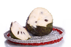 Soursop sections and slice Royalty Free Stock Photography