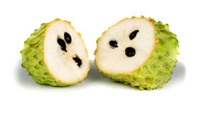 Soursop sections Stock Images