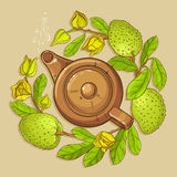 Soursop Tea Vector Illustration Stock Photo