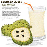 Soursopfruktfruktsaft Arkivfoton