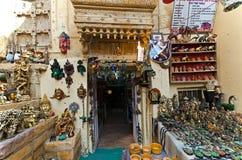 Sourvenir购物在Jaisalmer堡垒里面 库存图片